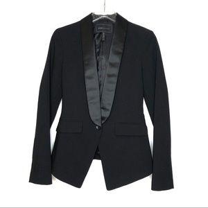 BCBG MAXAZRIA Black Tuxedo Blazer Size XXS